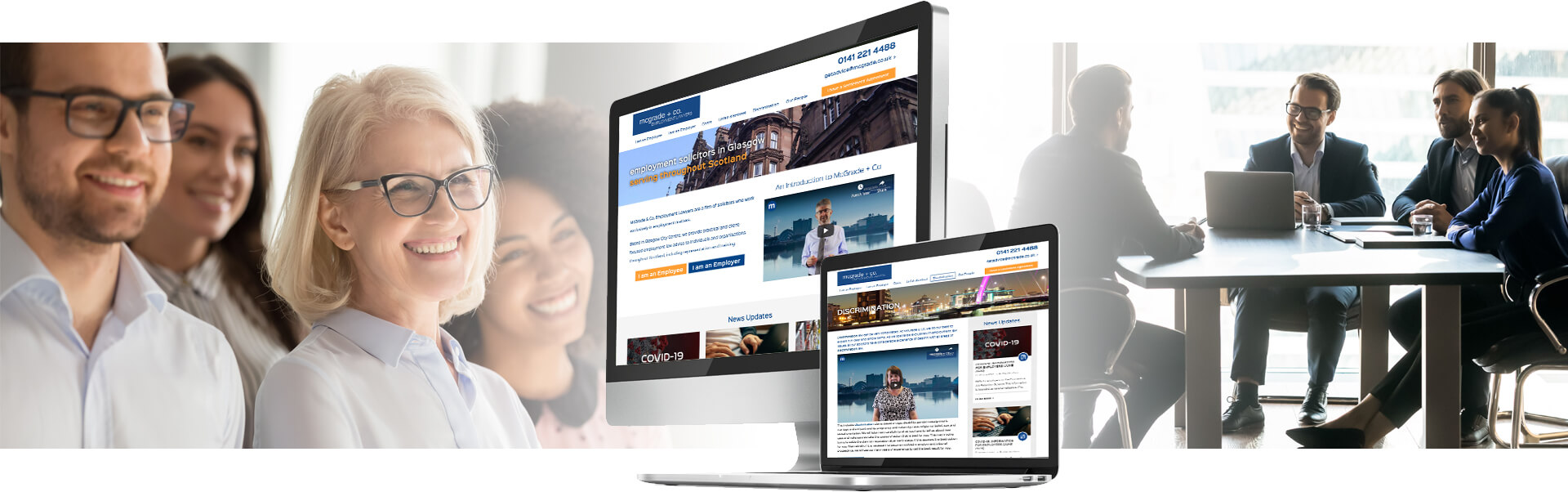 McGrade Employment Lawyers website design visual