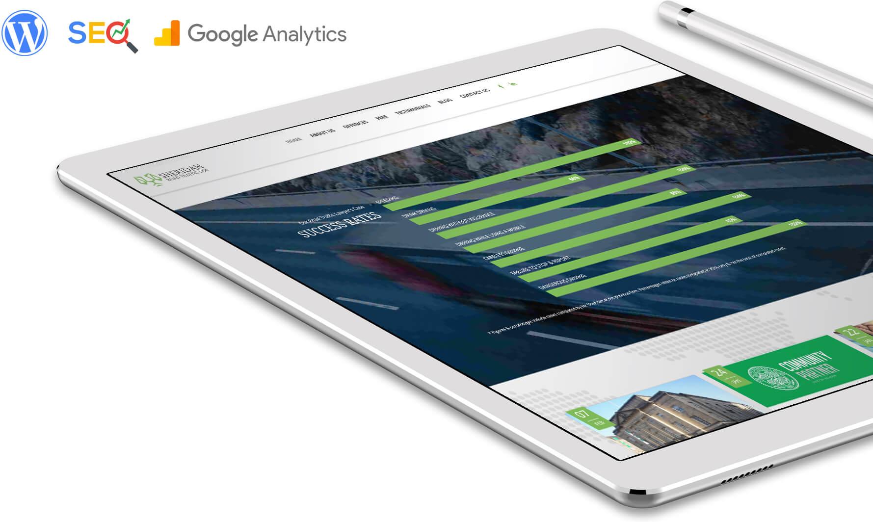 law firm web design tablet